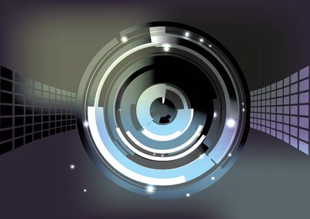 tech ring background Stock Vector - 14368691
