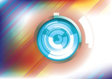 circulos concentricos: de fondo anillo de tecnología