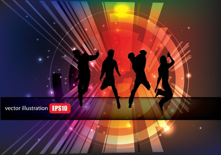 music event: dancing people background