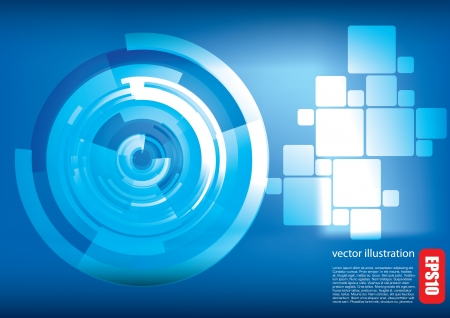 digital futuristic background  Vector