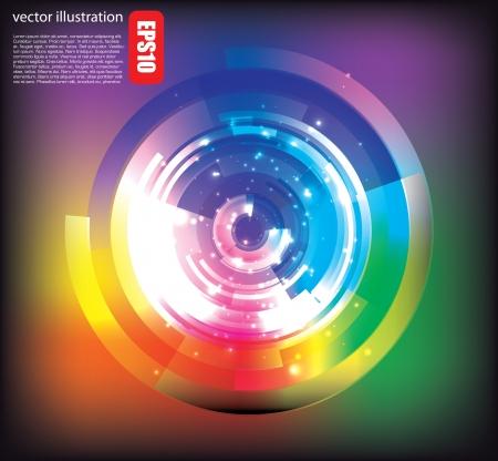 viewfinder: digital futuristic background  Illustration