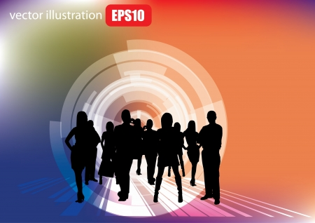 businessmen on abstract background  Vector