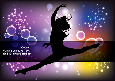 dancing woman background  Stock Vector - 14477285