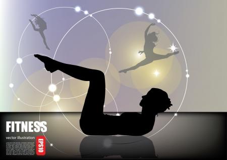 fitness vrouw achtergrond