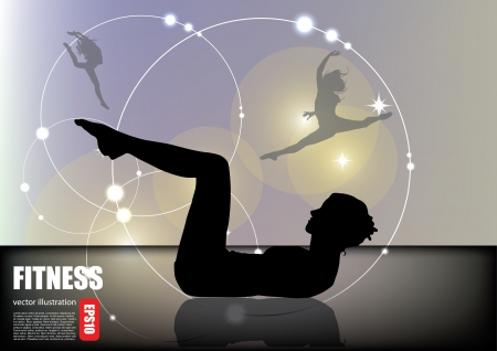 somersault: fitness woman background