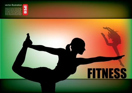 fitness woman background Stock Vector - 14477282