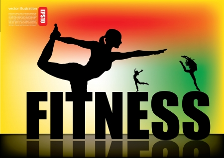 fitness woman background  Vector