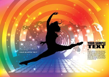 dancing woman background Stock Vector - 14592958