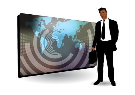 investor: businessman and business frame