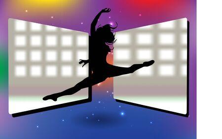 dancing woman background Stock Vector - 14592930