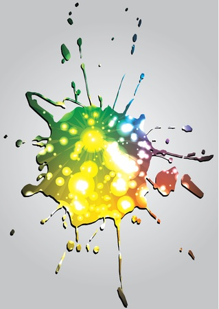 colorful splash isolated  Vector