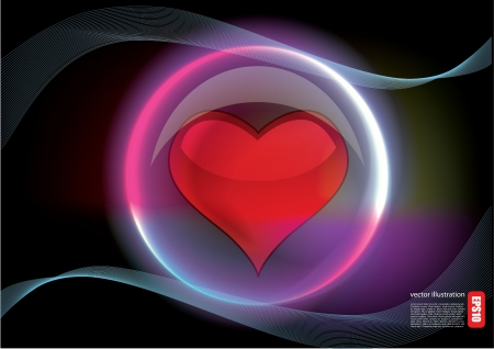 heart in glossy bubble Stock Vector - 14613016