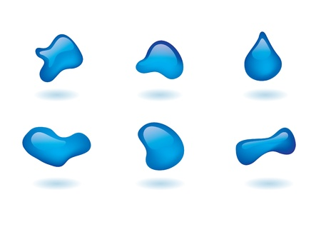 Set of water drops  Vector illustration   Vector