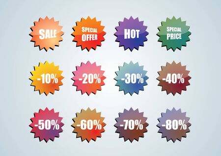 Selling Badges  Vector