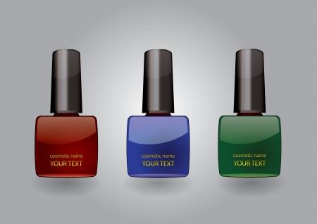 nail varnish: nail polish set  Illustration
