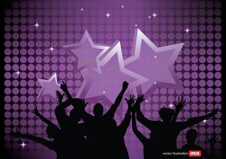 urban dance: party background  Illustration