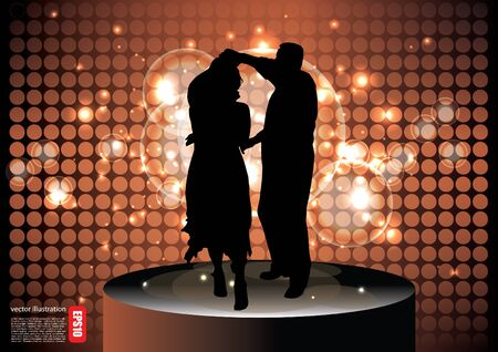 dancing couple background  Vector