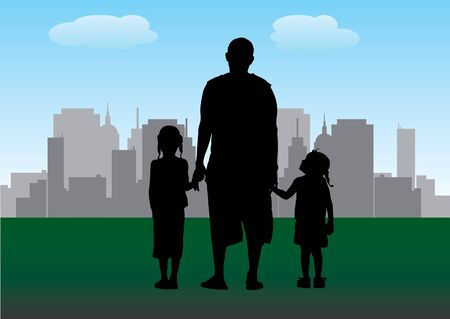 family and the city  Vector