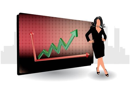 enterprise: businesswoman and chart