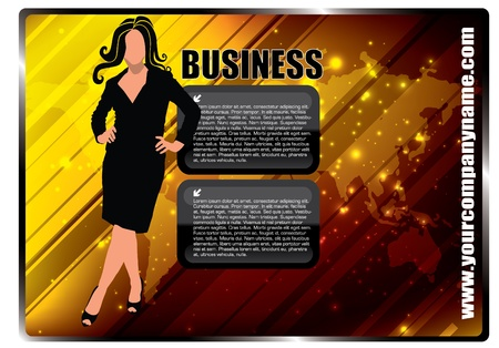 businesswoman and frames Vector