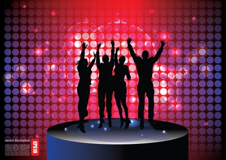 nightclub bar: party people background