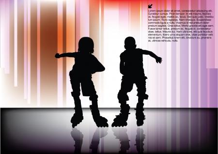 inline skater: riders Illustration