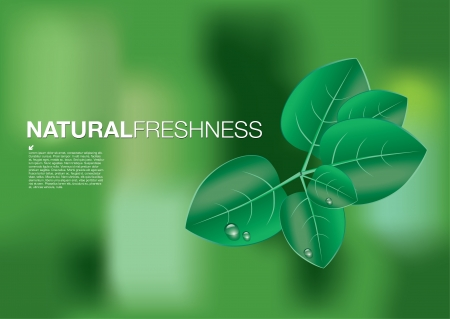 natuur concept achtergrond Stock Illustratie