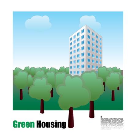 green housing  Stock Vector - 15206286