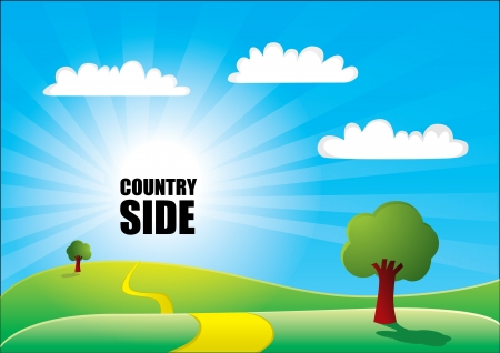 country side background  Vector