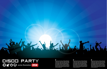 rave party: la gente del partido Vectores