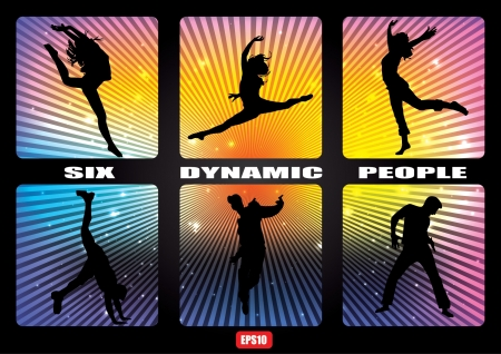 dynamic activity: dynamic people banner set