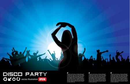 rave party: Parte de fondo mujer