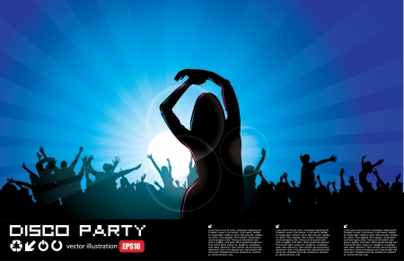 night spot: party woman background