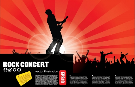 rock concert background  Illustration