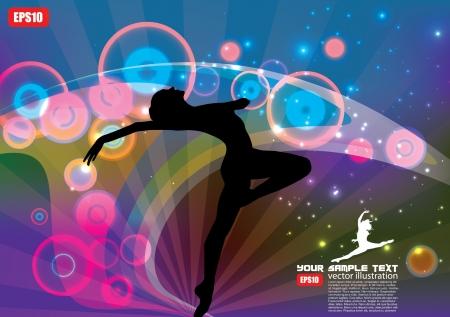 magic ballet dancer background  Vector