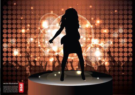 pop star background  Vector