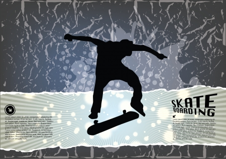 grunge skateboarding background