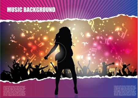 pop star background advert, background, band, club, concept, concert, dance, dj, enjoy, entertainment, event, excited, excitement, flier, flyer, gig, glowing, grid, grunge, guitar, guitarist, illustration, music, musician, night, nightlife, paper, party,  Vector
