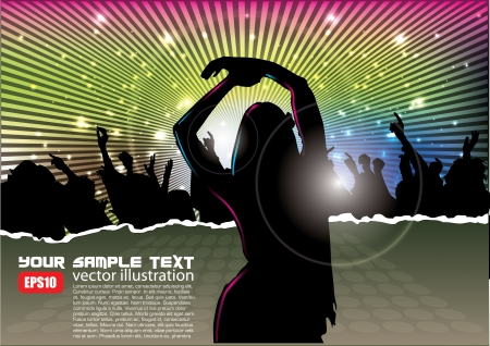 party woman background  Stock Vector - 15145254