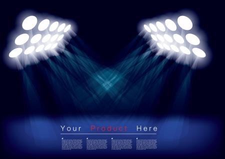Blue spotlights Stock Vector - 15145252