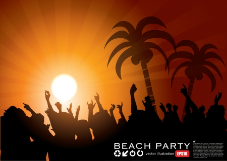 zomers meisje: Summer Beach Party Achtergrond