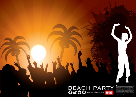 Summer Beach Party Background  Vector
