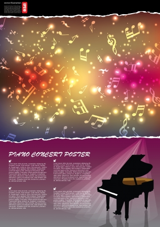 piano background Stock Vector - 15382272