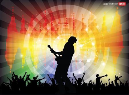 rock concert background  Illustration
