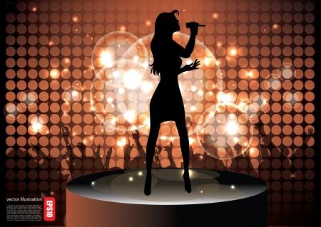 pop star singer background  Vector