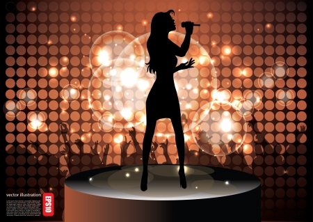 performing: pop star singer background