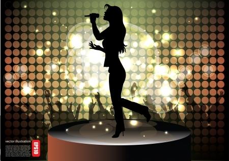 s�ngerin: Popstar S�ngerin Hintergrund
