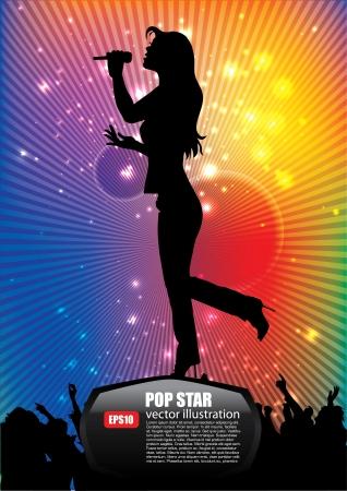exhibition crowd: cantante pop star sfondo