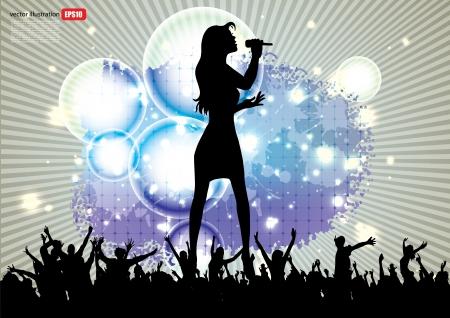 pop star: pop star singer background