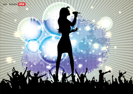 pop singer: pop star singer background